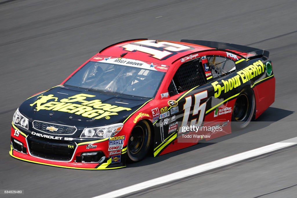 <a gi-track='captionPersonalityLinkClicked' href=/galleries/search?phrase=Clint+Bowyer&family=editorial&specificpeople=537951 ng-click='$event.stopPropagation()'>Clint Bowyer</a>, driver of the #15 5-hour Energy Chevrolet, practices for the NASCAR Sprint Cup Series Coca-Cola 600 at Charlotte Motor Speedway on May 27, 2016 in Charlotte, North Carolina.