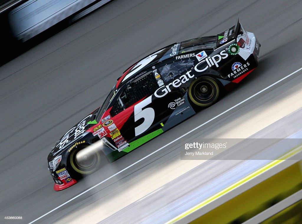 Clint Bowyer, driver of the #15 5-hour Energy Toyota, qualifies for the NASCAR Sprint Cup Series Pure Michigan 400 at Michigan International Speedway on August 15, 2014 in Brooklyn, Michigan.