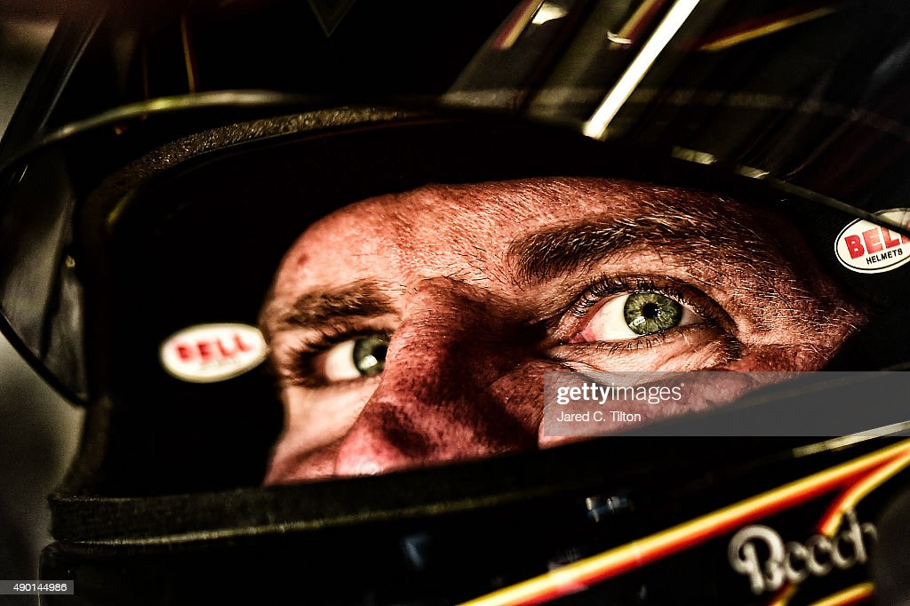 <a gi-track='captionPersonalityLinkClicked' href=/galleries/search?phrase=Clint+Bowyer&family=editorial&specificpeople=537951 ng-click='$event.stopPropagation()'>Clint Bowyer</a>, driver of the #15 5-Hour Energy Toyota, sits in his car during practice for the NASCAR Sprint Cup Series Sylvania 300 at New Hampshire Motor Speedway on September 26, 2015 in Loudon, New Hampshire.