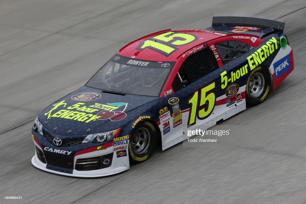 Clint Bowyer, driver of the #15 Cherry 5-Hour ENERGY for Special Operations Warrior Foundation Toyota, practices for the NASCAR Sprint Cup Series FedEx 400 Benefiting Autism Speaks at Dover International Speedway on May 30, 2014 in Dover, Delaware.