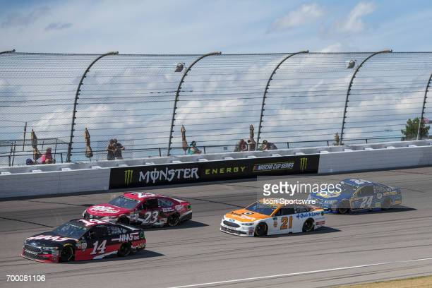 Clint Bowyer driver of the HaasAutomation Ford Ryan Sieg driver of the Dr Pepper Toyota Ryan Blaney driver of the Omnicraft Auto Parts Ford and Chase...