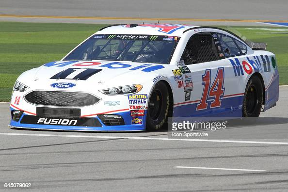 Clint Bowyer driver of the Mobil 1 Ford during practice for the NASCAR Monster Energy Cup Series Daytona 500 on February 24 at the Daytona...