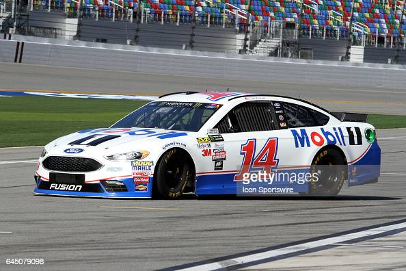 Clint Bowyer driver of the Mobil1 Ford during practice for the NASCAR Monster Energy Cup Series Daytona 500 on February 24 at the Daytona...