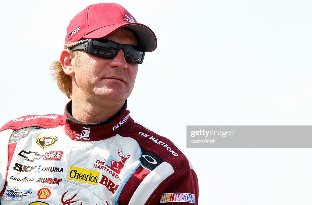 Clint Bowyer driver of the The Hartford Chevrolet looks on during qualifying for the NASCAR Sprint Cup Series SHOWTIME Southern 500 at Darlington...