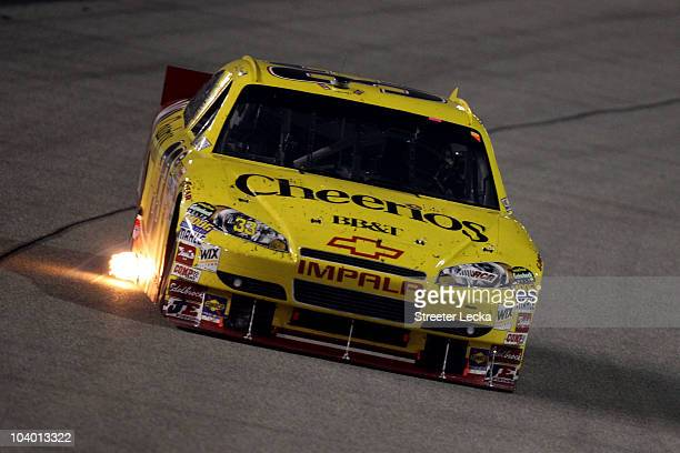 Clint Bowyer drives the Cheerios/Hamburger Helper Chevrolet during the NASCAR Sprint Cup Series Air Guard 400 at Richmond International Raceway on...
