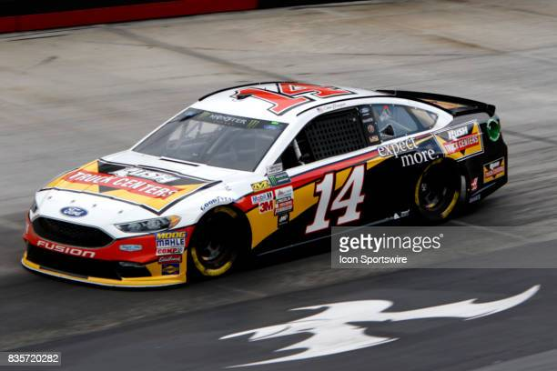 Clint Bowyer StewartHass Racing Rush Truck Centers Ford Fusion Fusion during practice for the Bass Pro Shop NRA 500 at Bristol Motor Speedway on...