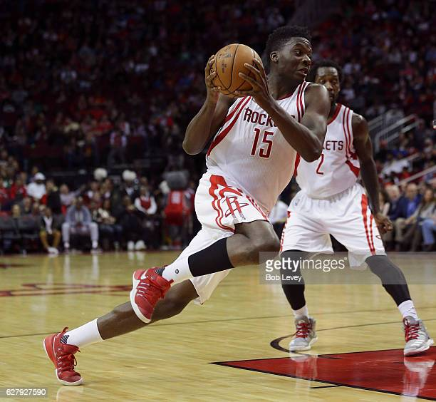Clint Capela of the Houston Rockets drives to the basket Boston Celtics at Toyota Center on December 5 2016 in Houston Texas NOTE TO USER User...