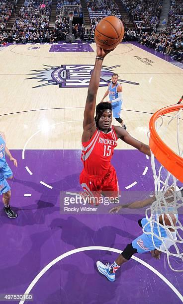 Clint Capela of the Houston Rockets dunks against the Sacramento Kings on November 6 2015 at Sleep Train Arena in Sacramento California NOTE TO USER...