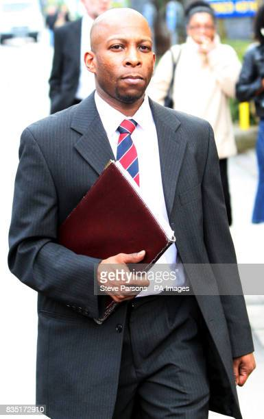 Clint Charles during a break from an employment tribunal in Watford Hertfordshire after giving evidence against the Metropolitan Police for claims of...