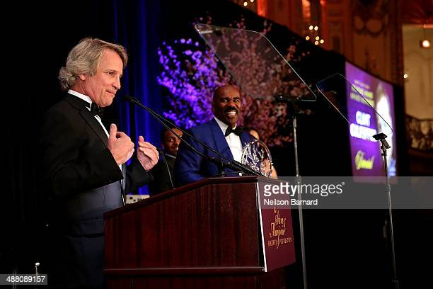 Clint Culpepper President of Screen Gems speaks on stage at the 2014 Steve Marjorie Harvey Foundation Gala presented by CocaCola at the Hilton...