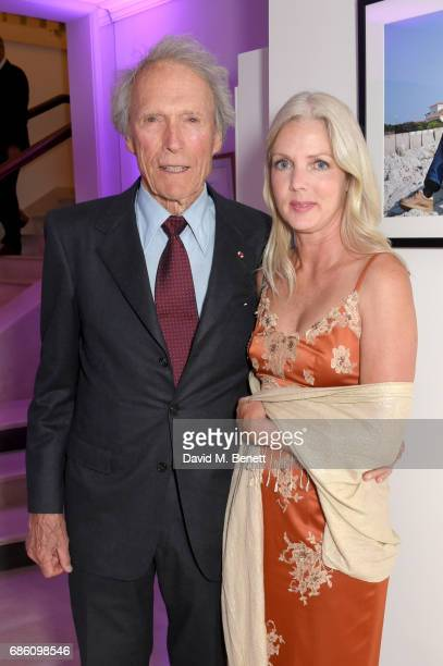 Clint Eastwood and Christina Sandera attend the Vanity Fair and Chopard Party celebrating the Cannes Film Festival at Hotel du CapEdenRoc on May 20...