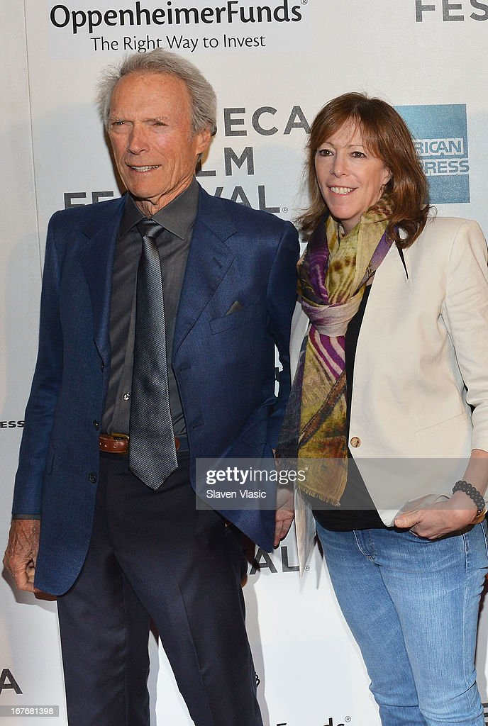 <a gi-track='captionPersonalityLinkClicked' href=/galleries/search?phrase=Clint+Eastwood&family=editorial&specificpeople=201795 ng-click='$event.stopPropagation()'>Clint Eastwood</a> and <a gi-track='captionPersonalityLinkClicked' href=/galleries/search?phrase=Jane+Rosenthal&family=editorial&specificpeople=202835 ng-click='$event.stopPropagation()'>Jane Rosenthal</a> attend the 'Tribeca Talks - Directors Series: <a gi-track='captionPersonalityLinkClicked' href=/galleries/search?phrase=Clint+Eastwood&family=editorial&specificpeople=201795 ng-click='$event.stopPropagation()'>Clint Eastwood</a> with Darren Aronofsky' during the 2013 Tribeca Film Festival on April 27, 2013 in New York City.