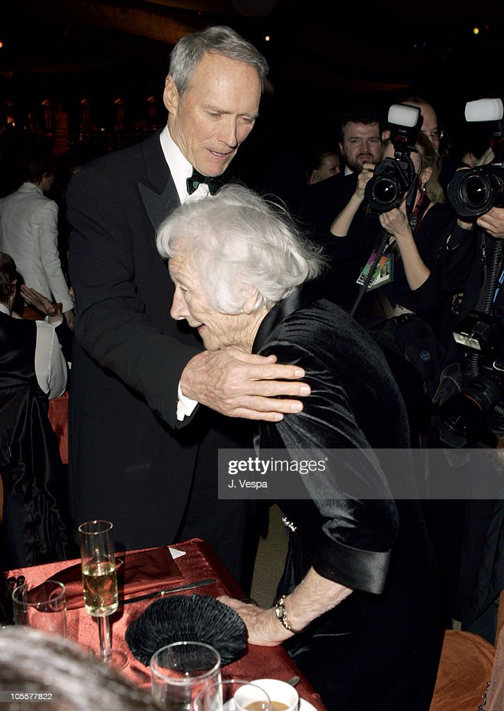 Clint Eastwood and mother Ruth Eastwood during The 77th Annual Academy Awards - Governors Ball at Kodak Theatre in Hollywood, California, United States.