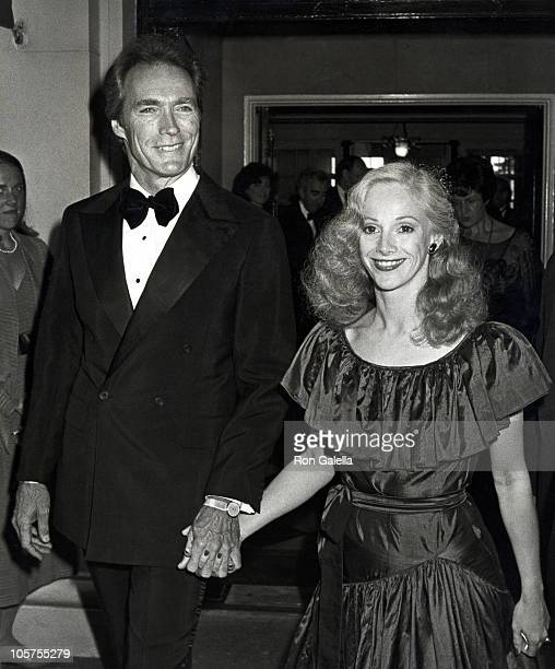Clint Eastwood and Sondra Locke during 'Firefox' Premiere Cocktail Party at Home of Blanchette Rockefeller in New York City New York United States