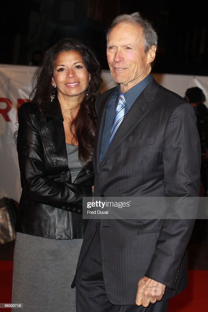 <a gi-track='captionPersonalityLinkClicked' href=/galleries/search?phrase=Clint+Eastwood&family=editorial&specificpeople=201795 ng-click='$event.stopPropagation()'>Clint Eastwood</a> and wife Dina Ruiz attends the UK Film Premiere of 'Invictus' at Odeon West End on January 31, 2010 in London, England.