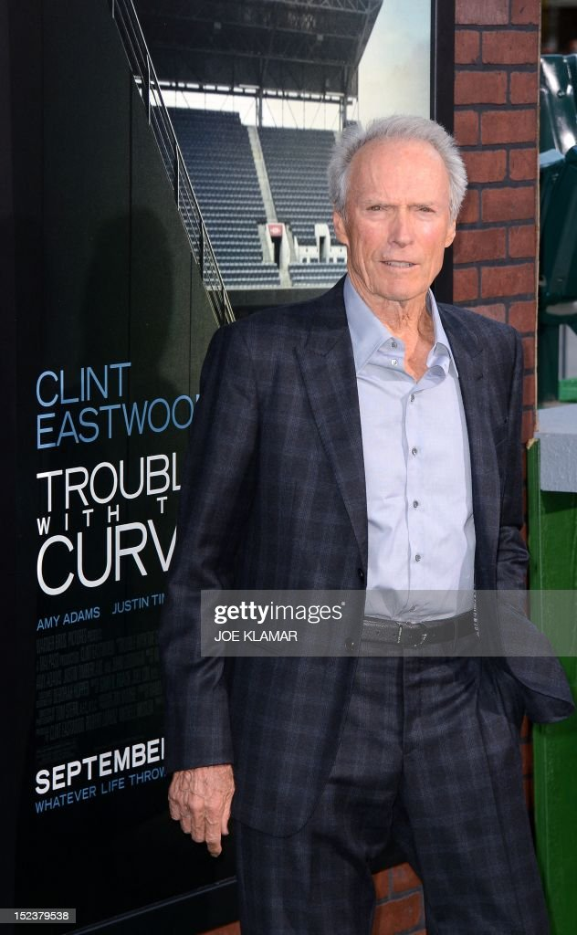 Clint Eastwood arrives for the premiere of 'Trouble With The Curve' on September 19, 2012 at the Regency Village Theatre in Westwood, California. AFP PHOTO/JOE KLAMAR