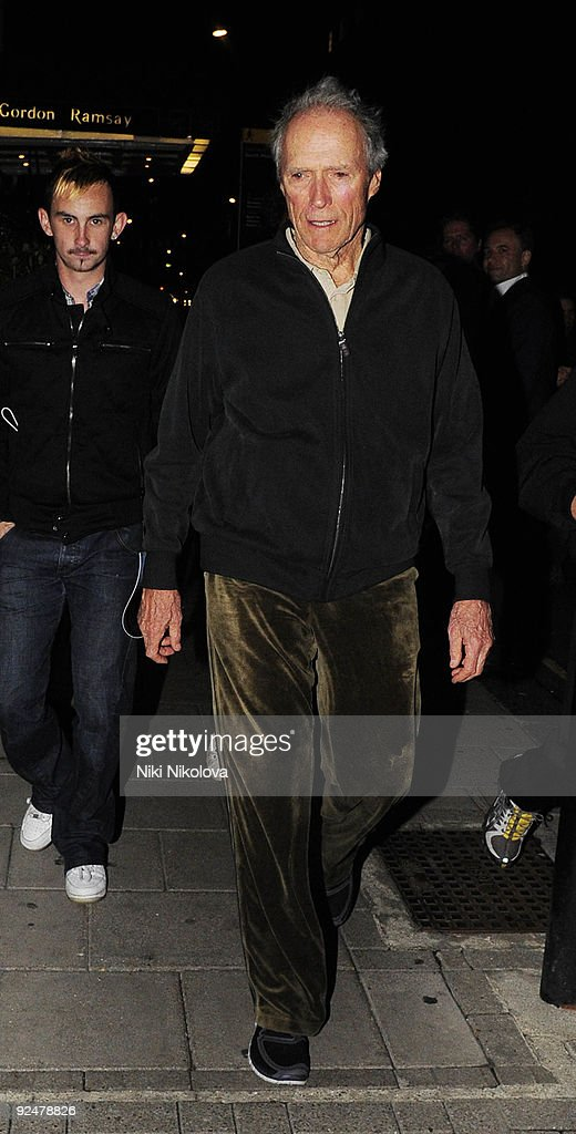 Clint Eastwood arriving at his Hotelon October 28, 2009 in London, England.
