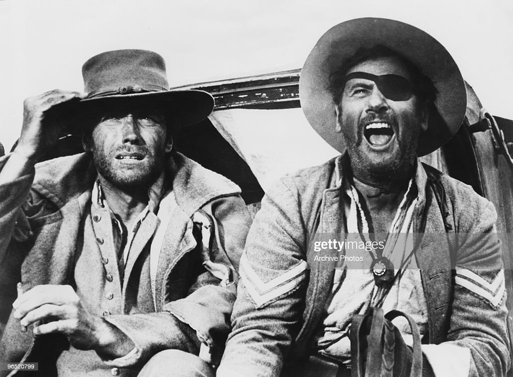 Clint eastwood as blondie and eli wallach as tuco in the western