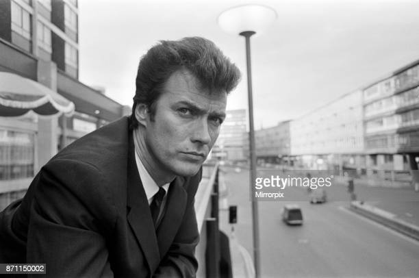 Clint Eastwood at the Albany Hotel on Smallbrook Queensway Birmingham 5th June 1967