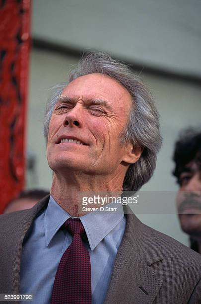 Clint Eastwood attends the premier of the 1995 movie Ace Ventura When Nature Calls