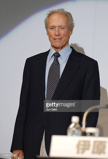 Clint Eastwood during 'Flags of Our Fathers' and 'Letters from Iwo Jima' Tokyo Press Conference with Clint Eastwood and Ken Watanabe at Grand Hyatt...
