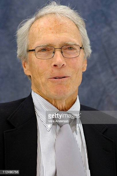 Clint Eastwood during 'Flags of Our Fathers' Press Conference with Clint Eastwood Adam Beach and Jesse Bradford at Warner Bros Studio in Burbank...