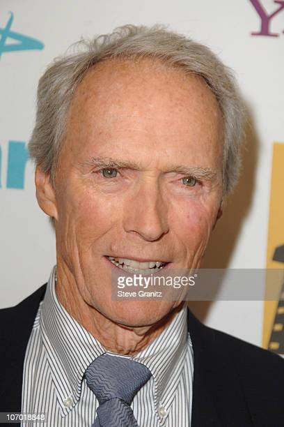 Clint Eastwood during Hollywood Film Festival 10th Annual Hollywood Awards Press Room at The Beverly Hilton Hotel in Beverly Hills California United...