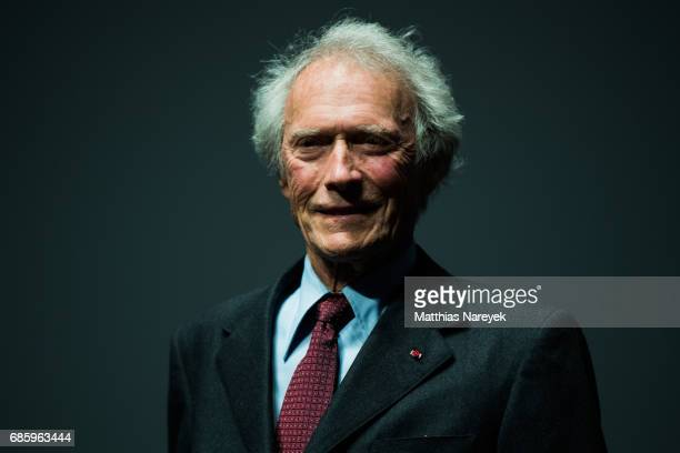 Clint Eastwood is seen on stage during the 'Unforgiven' restored copy presentation during the 70th annual Cannes Film Festival at Salle Debussy on...