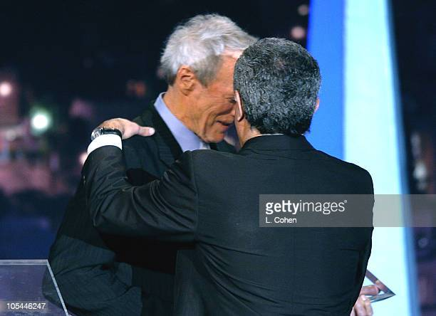 Clint Eastwood presents the Vanguard Award to Terry Semel