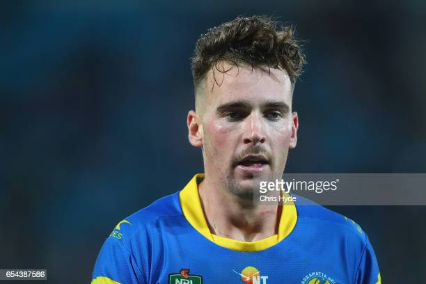 Clint Gutherson of the Eels looks on during the round three NRL match between the Gold Coast Titans and the Parramatta Eels at Cbus Super Stadium on...