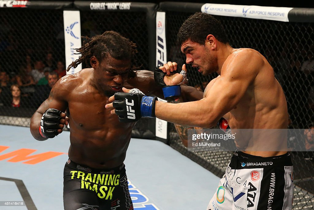 Clint Hester punches Antonio Braga Neto in their middleweight bout at the ATT Center on June 28 2014 in San Antonio Texas