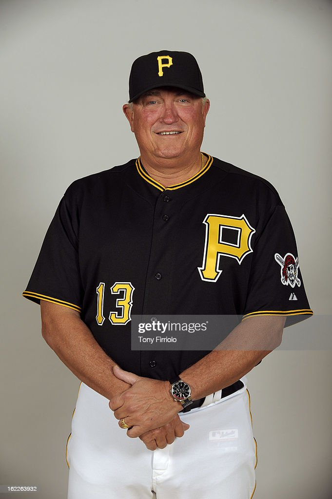 Clint Hurdle #13 of the Pittsburgh Pirates poses during Photo Day on February 17, 2013 at McKechnie Field in Bradenton, Florida.