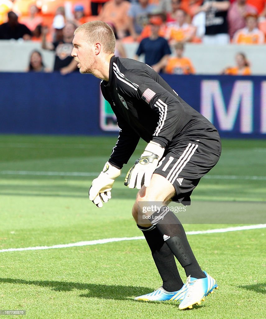 Clint Irwin #31 of the Colorado Rapids during action against the Houston Dynamo at BBVA Compass Stadium on April 28, 2013 in Houston, Texas.