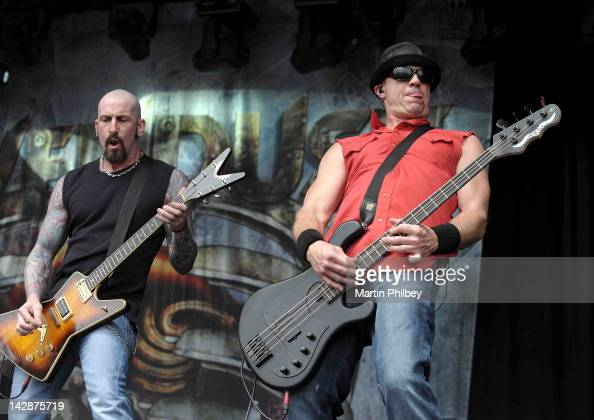 Clint Lowery and Vince Hornsby of Sevendust perform on stage at The Soundwave Music Festival at Olympic Park on 27th February 2011 in Sydney Australia