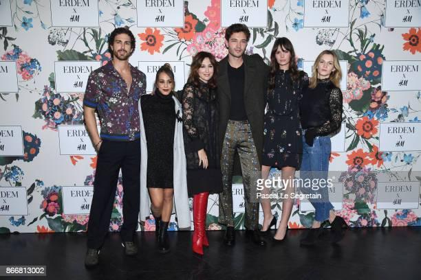 Clint MauroAlice BelaidiElsa ZylbersteinFrancisco LachowskiJessianne Lachowski and Margot Bancilhon attend ERDEM X HM Paris Collection Launch at...