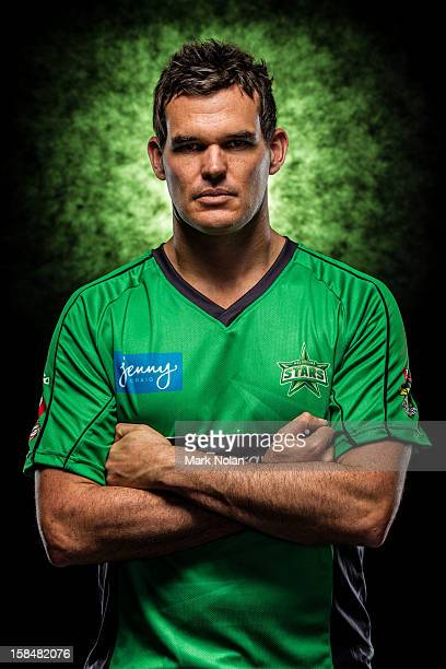 Clint McKay of the Melbourne Star poses during a 2012/13 Big Bash League portrait session on August 9 2012 in Darwin Australia