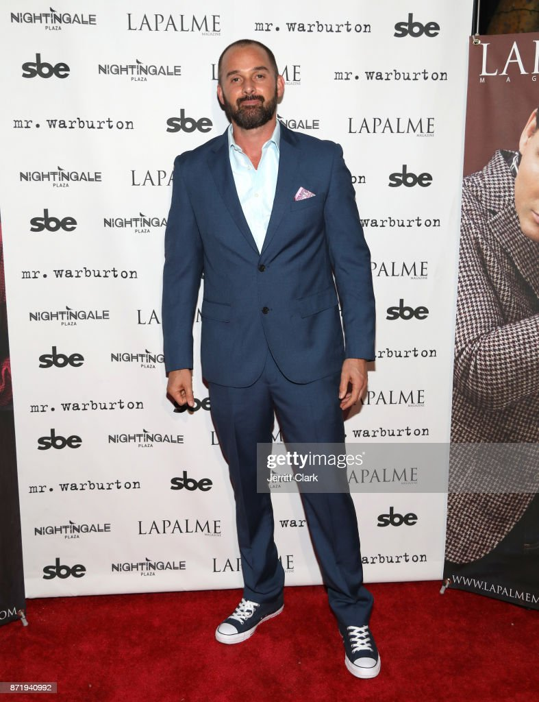 Clint Riffo attends LaPalme Magazine fall cover party at Nightingale Plaza on November 8, 2017 in Los Angeles, California.
