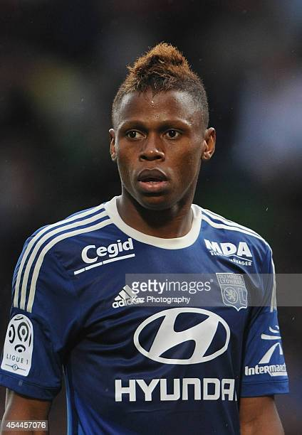 Clinton N'Jie of Lyon in action during the French Ligue 1 match between FC Metz and Olympique Lyonnais at Stade SaintSymphorien on August 31 2014 in...