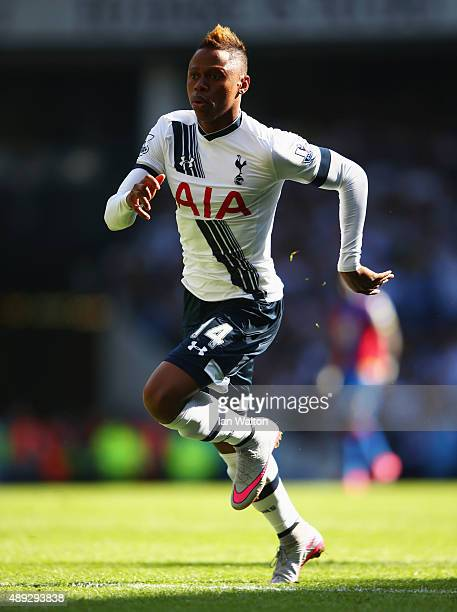 Clinton N'Jie of Tottenham Hotspur in action during the Barclays Premier League match between Tottenham Hotspur and Crystal Palace at White Hart Lane...