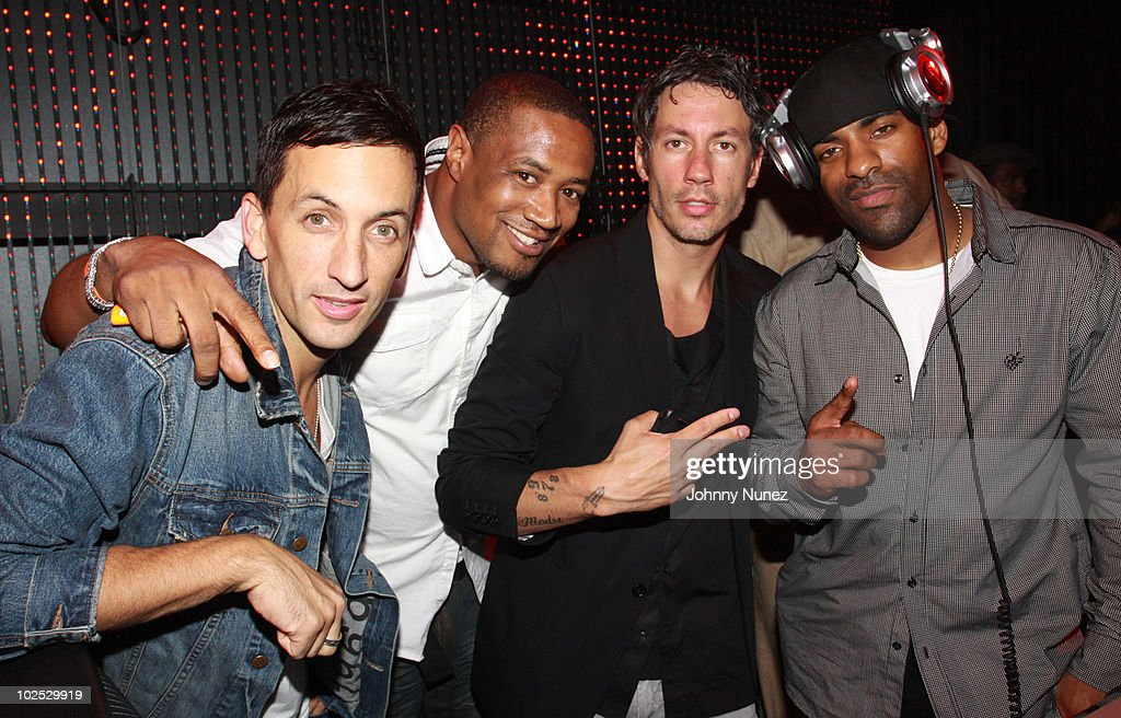 DJ Clinton Sparks Barry Mullineaux Hollywood Chuck and DJ Clue attend the Official Interscope BET Awards After Party at Playhouse Hollywood on June...