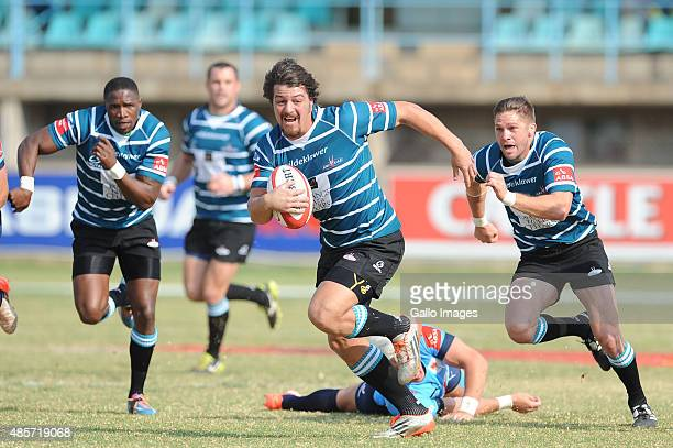 Clinton Swart of the ORC Griquas during the Absa Currie Cup match between ORC Griquas and Vodacom Blue Bulls at GWK Park on August 29 2015 in...