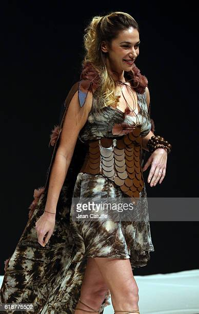 Clio Pajczer walks the runway during the Chocolate Fashion Show as part of Salon du Chocolat Paris 2016 at Parc des Expositions Porte de Versailles...