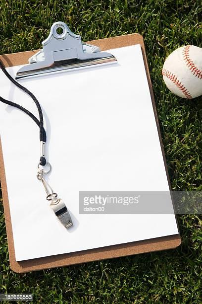 Clipboard and Baseball