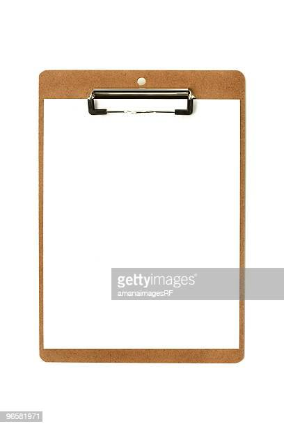 Clipboard and White Paper