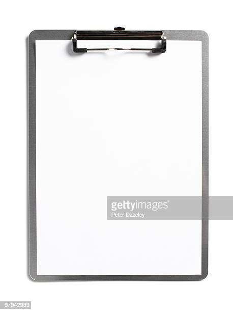Clipboard with clean white paper