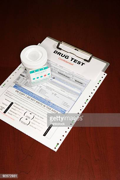 Clipboard with drug test