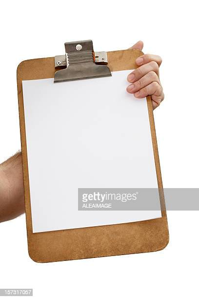 Klemmbrett mit Papier