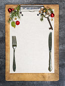 Clipboard with christmas background and free space for text.