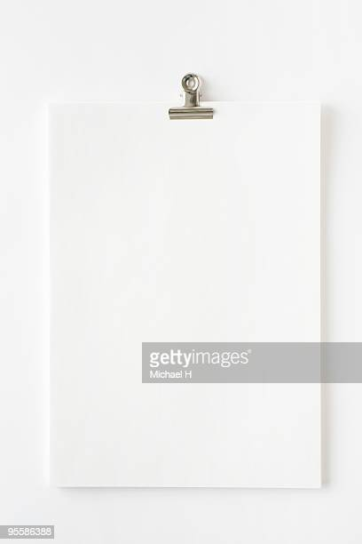Clip-on white paper