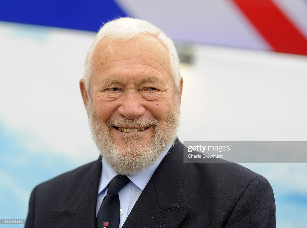 Clipper Race Chairman and Founder Robin Knox-Johnston during the Clipper Round the World Yacht Race Press Conference at Trafalgar Square on July 31, 2013 in London, England.
